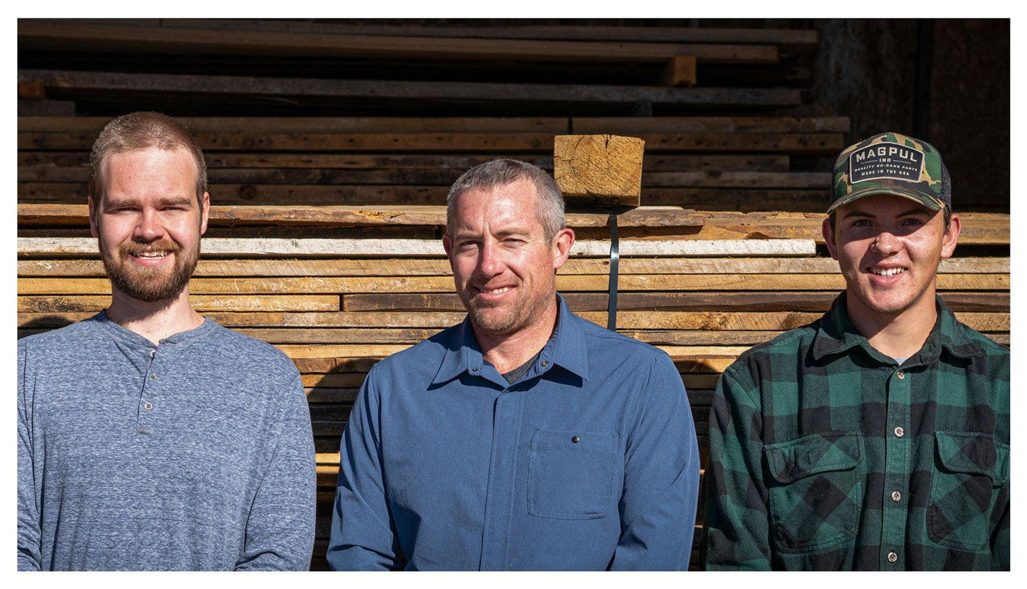 The Durango Wood Team—Mike, Ryan, and Caleb