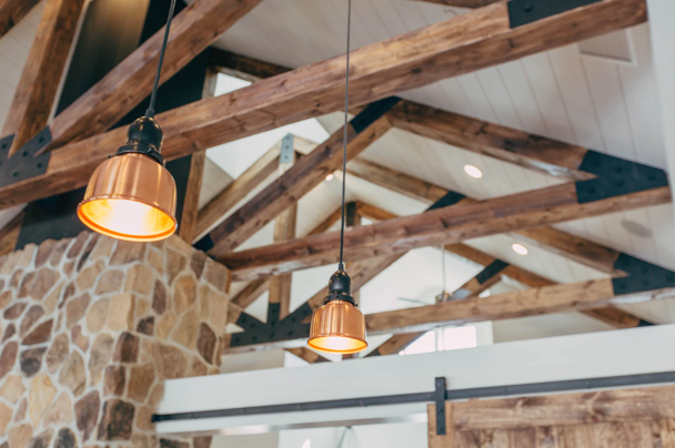Faux beams light up a classic design